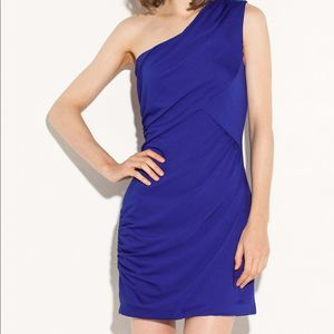 G by Guess Eugenie One Shoulder Shirred Dress